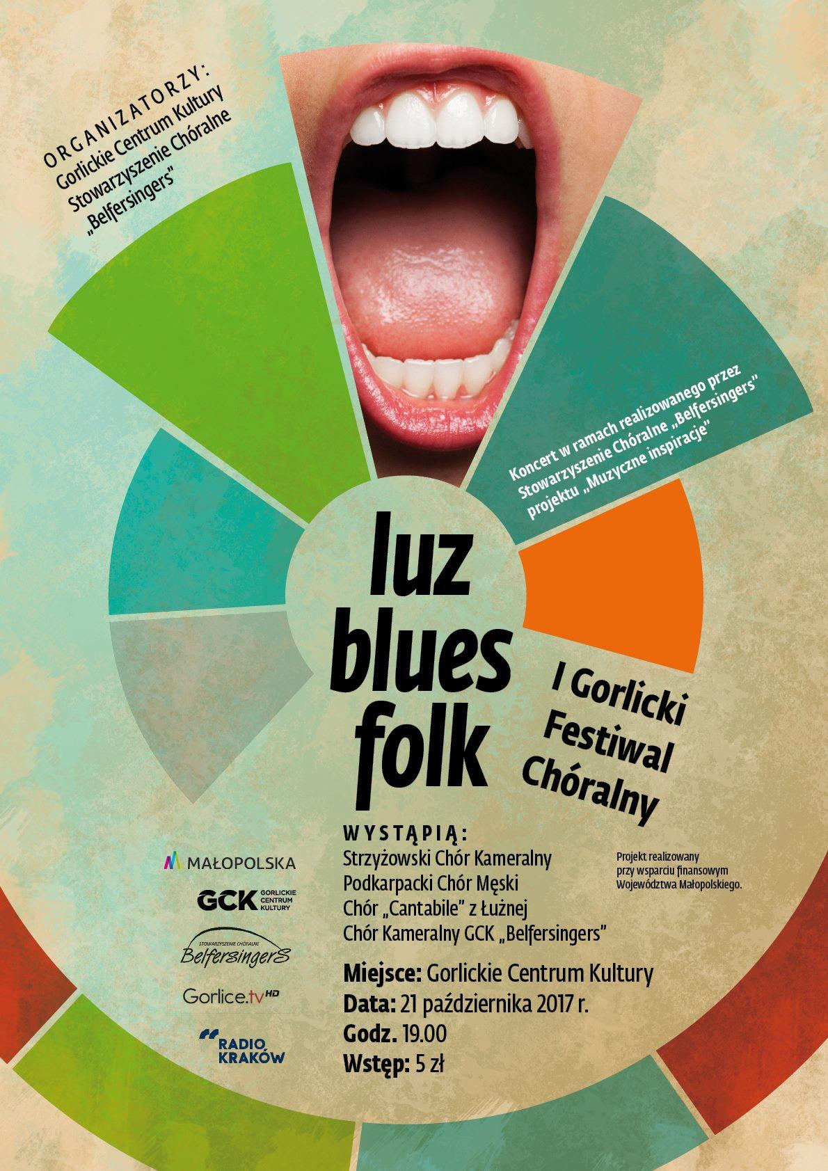 Zaproszenie na I Gorlicki Festiwal Chóralny - 21 października 2017