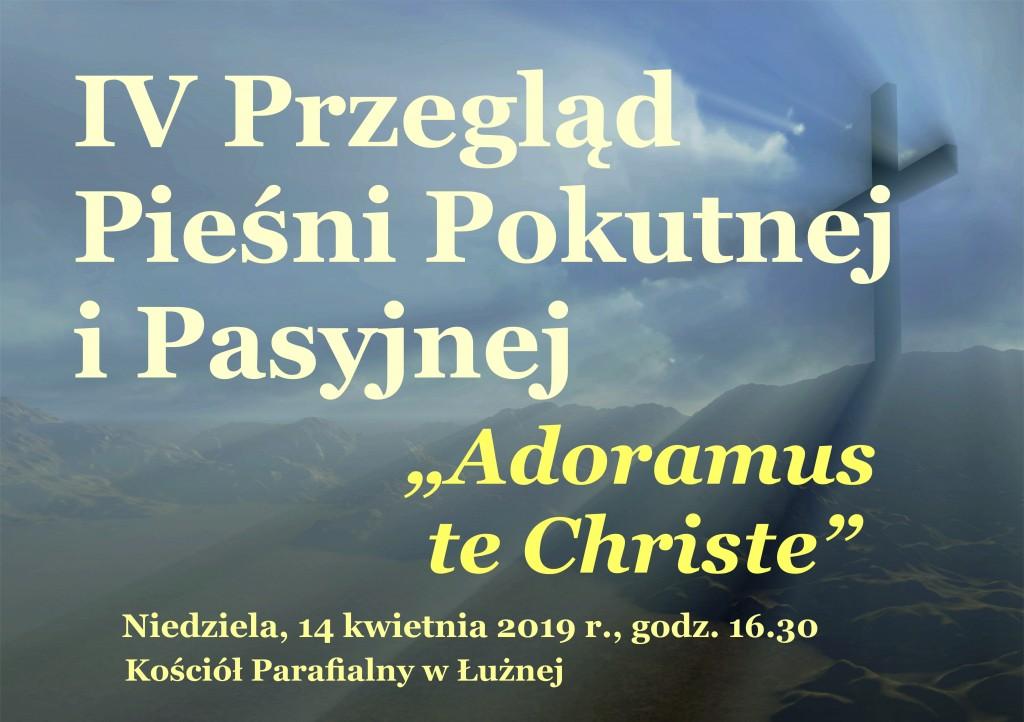 Zaproszenie na IV Przegląd Pieśni Pokutnej i Pasyjnej